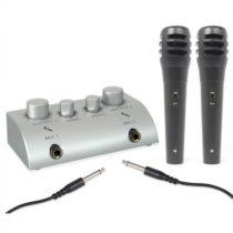 Skytec Mini, 2-kanálový karaoké mix pult, set s 2 mikrofónmi