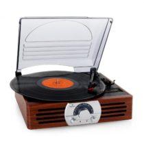 Auna TT-83N, gramofón, FM, drevo