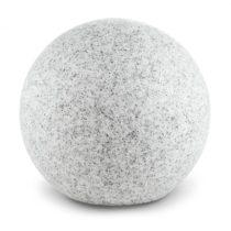 Lightcraft Shinestone L, záhradné svietidlo, guľovité, 40 cm, vzhľad kameňa