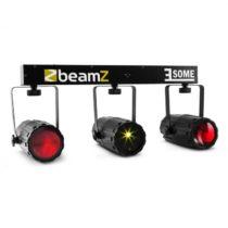 Beamz 3-Some, trojica RGBW LED-svetiel, multibodový laser mikrofón