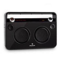 Auna Bebop Ghettoblaster, čierny, USB bluetooth AUX MIC