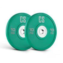 Capital Sports Performan Urethane Plates, Polyuretán, 10 kg, 50,4 mm, zelené, pár kotúčových závaží