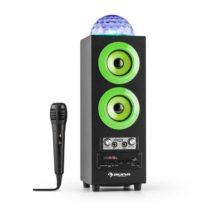 Auna DiscoStar Green, prenosný 2.1 bluetooth reproduktor, USB, akumulátor, LED, mikrofón