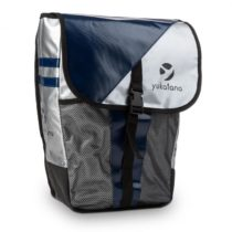 Yukatana Yuka, taška na batožinový nosič, metalická/modrá, nepremokavá, 14 litrov