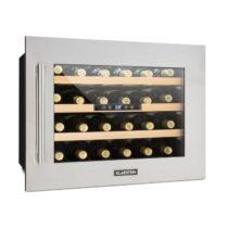 Klarstein Vinsider 24D, vstavaná chladnička na víno, 24 fliaš, ušľachtilá oceľ