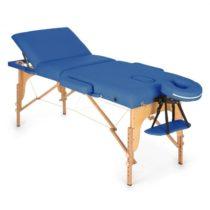 KLARFIT MT 500, modrý, masážny stôl, 210 cm, 200 kg, sklápací, jemný povrch, taška