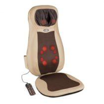 KLARFIT Niuwe, hnedá, masážna podložka na sedenie, shiatsu masáž, 3 masážne zóny