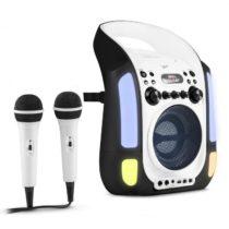 Auna Kara Illumina, čierny, karaoke systém, CD, USB, MP3, LED svetelná show, 2 x mikrofón, prenosný