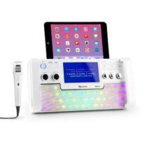 "Auna DiscoFever, biely, bluetooth karaoke systém, LED, 7"" TFT displej, CD, USB"