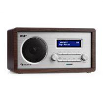 Auna Harmonica DAB+/FM rádio duálny alarm AUX LCD drevená konštrukcia wenge