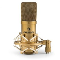 Auna MIC-900G, USB kondenzátorový mikrofón, štúdiový, kardioidná ch., zlatá farba