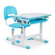 OneConcept Tommi detský písací stôl, dvojdielna sada, stôl, stolička, výškovo nastaviteľné, modrá