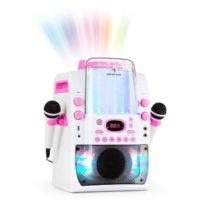 Auna Kara Liquida BT karaoke zariadenie, svetelná show, vodná fontána, bluetooth, biela/ružová farba