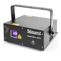 Beamz Pandora 1200, TTL RGB laser, 12/23 DMX kanálov, trieda: 4, čierny