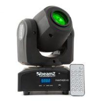 Beamz Panther 40, 45 W, LED otočná hlava, pohyblivá hlavica, moving-head, 7 vzorov, 7 farieb, DMX, i...