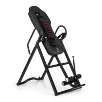 KLARFIT Ease Delux, inverzná lavica, gravitačná posilňovacia lavica, do 136 kg, 1,54-1,98m, čierna