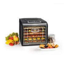 Klarstein Fruit Jerky Plus 6 sušička ovocia, časovač, 6 poličiek, plech, 420-500W, čierna farba