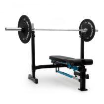 Capital Sports Benchex posilňovacia lavička, šikmá a plochá lavička, zaťažiteľnosť do 250 kg, modrá ...