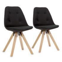 OneConcept Iseo, stolička, 2-dielna sada, polstrovaná PP-konštrukcia sedacej časti, brezové drevo, č...