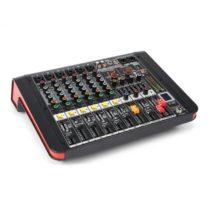 Power Dynamics PDM-M604A, mixážny pult, 6 mikrofónových vstupov, 24-bit multi-FX-procesor, USB prehr...