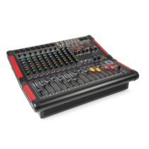 Power Dynamics PDM-S1204A, stage mixážny pult, 12-kanálový s integrovaným zosilňovačom (2 x 350 W RM...