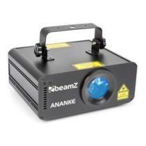 Beamz Ananke Laser 3D červený a modrý, MDX/stand-alone režim, diaľkové ovládanie