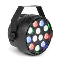 MAX Party, PAR reflektor, 12 x 1 W RGBW LED diódy, DMX, samostatná prevádzka, ovládanie zvukom, 7 ka...