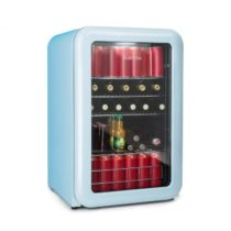 Klarstein PopLife, chladnička na nápoje, chladnička, 115 litrov, 0 - 10 °C, retro dizajn, modrá