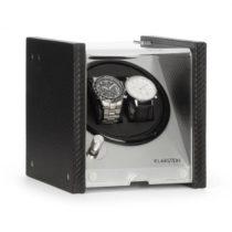 Klarstein Tokyo 2, naťahovač na hodinky, 2 hodiniek, 3 rýchlosti, 4 režimy, čierny