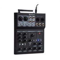 Auna Blackbird, 6-kanálový mixér, mixážny pult , BT, USB, MP3, 2 x XLR mikrofónový vstup, čierny