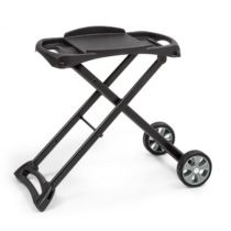 Klarstein Parforce Stand, grilovací stôl, príslušenstvo, PE kolesá, sklopný, čierny