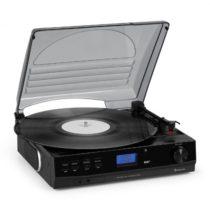 Auna TT-186 DAB, gramofón, DAB+/FM, BT funkcia, remeňový pohon 33/45 ot./min.