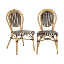 Blumfeldt Montpellier BL, bistro stolička, možnosť ukladať stoličky na seba, hliníkový rám, čierno-k...