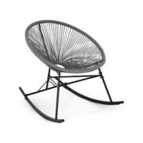 Blumfeldt Roqueta Chair, hojdacie kreslo, retro dizajn, 4 mm pletivo, sivé
