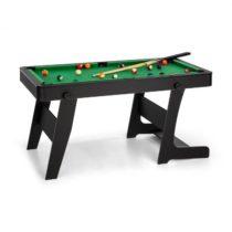 OneConcept Trickshot, biliardový hrací stôl, 140 x 64,5 cm, 16 gulí, 2 biliardové palice, MDF, čiern...