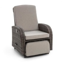 Blumfeldt Comfort Siesta Luxury, kreslo, nastaviteľná chrbtová opierka, tmavosivé