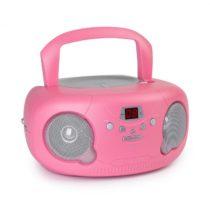 Auna Pink Bonbon CD Boombox, CD prehrávač, bluetooth, FM, AUX-IN, LED displej, ružový