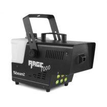 Beamz Rage 1000, LED, výrobník hmly, 6 x 3 wattov, RGB LED diódy, 1000W, 125m³/min, objem 2l
