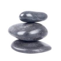 Lávové kamene inSPORTline River Stone 6-8 cm - 3ks