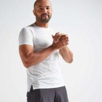 DOMYOS Pánske Tričko 520 Na Fitness