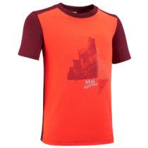 QUECHUA Tričko Mh100 Oranžové