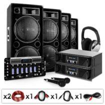 Electronic-Star Bass First Pro, DJ PA systém, 2 x zosilňovač, 4 x reproduktor, mixážny pult