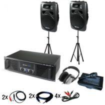 Electronic-Star Chicago, DJ PA systém, zosilňovač, reproduktory, mikrofón a slúchadlo