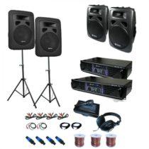 "Electronic-Star PA set ""Sidney"",2x zosilňovač, 4x reproduktor, príslušenstvo"