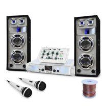 """Electronic-Star DJ PA set """"Polar Bear"""", mixážny pult, zosilňovač reprá 2200W"""