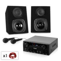 Electronic-Star Rio Rumble NEO, karaoke set, zosilňovač + 2 reproduktory + 2 x mikrofón