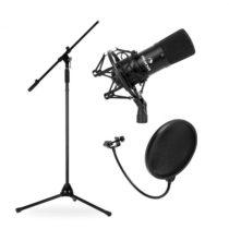 Electronic-Star Mikrofónový set, stojan, mikrofón a pop filter