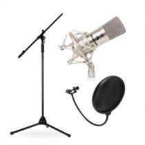 Auna CM001S, štúdiová/pódiová mikrofónová sada, kondenzátorový mikrofón, statív aprotiveterná ochra...