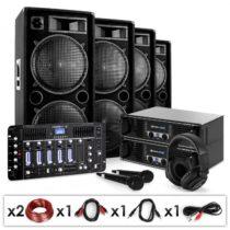 Electronic-Star Bass First Pro Bluetooth, DJ PA systém, 2 x zosilňovač, 4 x reproduktor, mixážny pul...