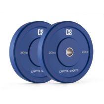 Capital Sports Nipton Bumper Plates, modré, 20 kg, pár kotúčových závaží, tvrdá guma